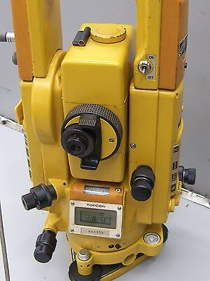 TOPCON GTS-3 Survey Total Station with car adapter .
