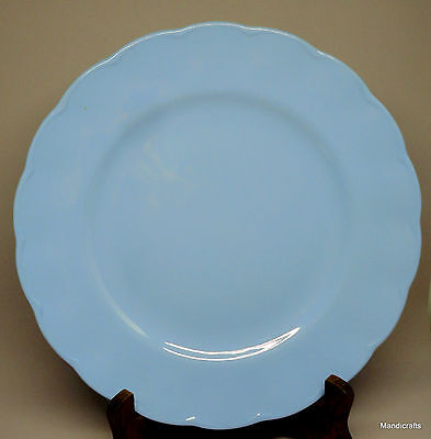 Grindley Petalware Dinner Plate x 2 Lupin Blue 9.75in Scalloped Vintage