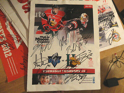 hALIFAX mOOSEHEADS TEAM AUTOGRAPHED PROGRAM 2012-  FUCALE  DROUN MACKINNON