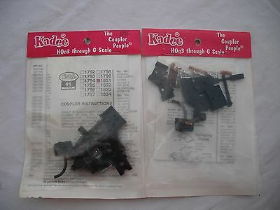 Lot of 2 New Packs of Kadee No. 1831, Coupler, #1 Gauge #1 Scale