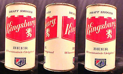 Kingsbury Draft Smooth Beer - Late 1950's - 12Oz Flat Top Can - Sheboygan