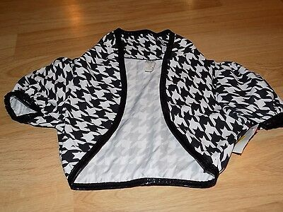 Size IMC 11-12 A Wish Come True Black White Houndstooth Cropped Jacket for Dance