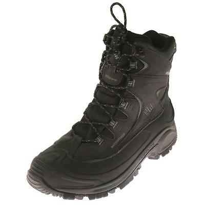 Columbia 8137 Mens Black Leather Hiking Boots Shoes 10.5 Wide (E) BHFO