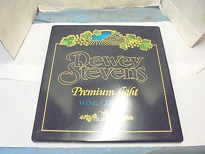 "plastic neon sign cover dewey stevens premium light wine coolers 17-3/4"" 17-3/4"""