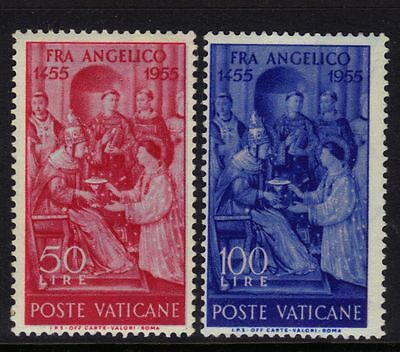 Vatican City Mint H 195-196 1955 Fra Angelico $7