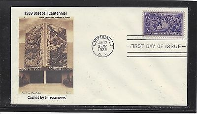 Baseball Centennial Fdc 1939 Cooperstown, New York Only One Made