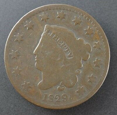 1829 Coronet Head Large Cent in Good