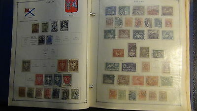 Poland stamp collection in Scott International album to '81