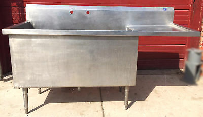 "ELKAY STAINLESS STEEL RARE SINK Huge Bowl is 53w x 24""h x 25""d FREE SHIP"