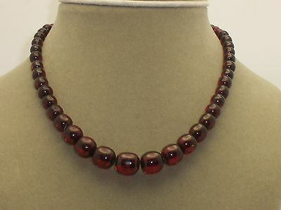 """16"""" Cherry Amber Bead Necklace 19.2 Grams"""