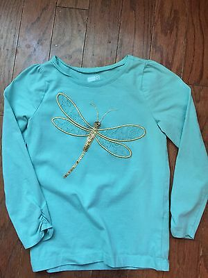 Little Girls Crazy 8 Size 5-6 Mint Green Long Sleeve Shirt