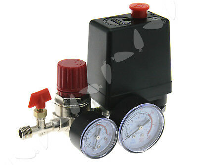 New Air Regulator Compressor Pressure Control Switch 90-120 PSI Relief Gauges