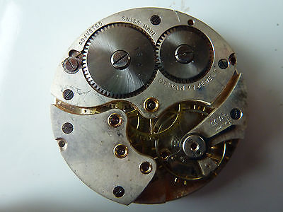 VINTAGE 16S ORVIN 17J Adjusted Cal 19A Open face Pocket watch Movement!!