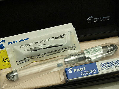 Pilot (NAMIKI) Japanese FP Custom 74 Transparent with converter /14K/ F nib New!
