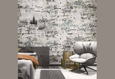 Havana Rustic 3D wash brick look wallpaper industrial shop fitting wall paper