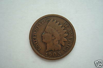 Indianhead ONE cent, 1894-1909, good condition LIMIT ONE, random date