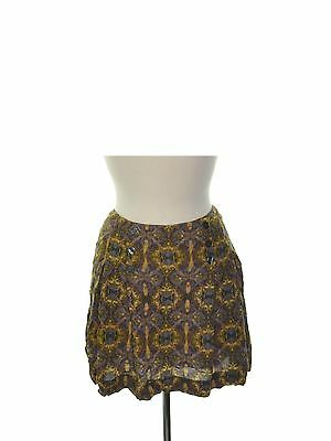 FREE PEOPLE 0573 Size 6 Womens NEW Multi Printed Casual Skirt Pleated $78