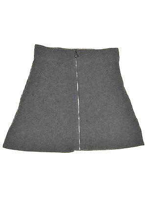 RACHEL ROY 0663 Size Large L Womens NEW Grey Ribbed A-Line Skirt Sweater Mini
