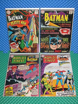 Batman+World's Finest Lot of 4 Mid-Grade Silver DC Brave and the Bold Superman