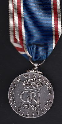 1937 silver King george 6th Coronation medal