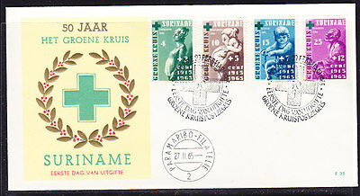 Suriname 1965 Green Cross First Day  Cover - Unaddressed