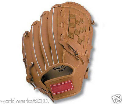 Sporting Goods Synthetic Leather 11 Inches Wear-Resisting Baseball Glove Brown&$