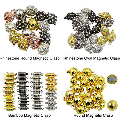 Crystal Rhinestone Strong Magnetic Clasp Connector For Bracelet Necklace Jewelry