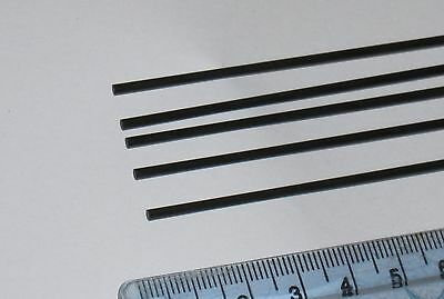 5x Carbon Fibre Rods 2mm x 1000mm (R2-1000) : £10.75 free p&p