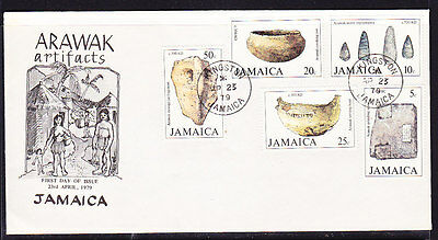 Jamaica 1979 Arawak Artifacts First Day Cover  Unnaddressed