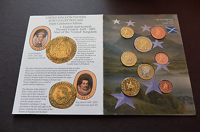 2003 Limited Edition Uk Pattern/prototype Euro Type 8 Coin Proof Set, Lot #96
