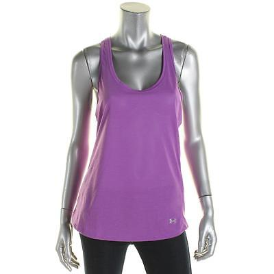 Under Armour 4257 Womens Purple Fitted Racerback Striped Tank Top M BHFO