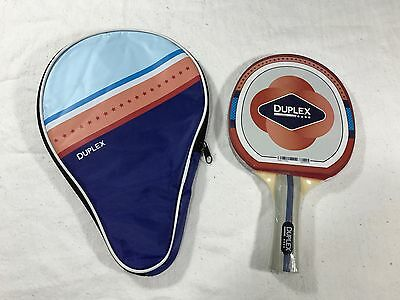 Duplex Table Tennis Paddle and Zipper Case - New