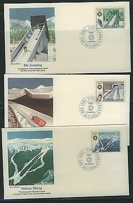 Yugoslavia 1984 Winter Olympics First Day Covers (3)
