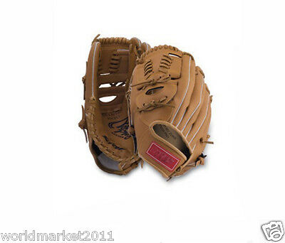 Sporting Goods Synthetic Leather 12Inches Wear-Resisting Baseball Glove Brown&$