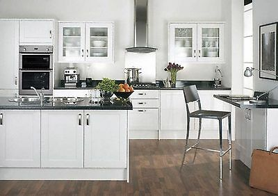 MFI HOWDENS WHITE Gloss Cathedral Style Kitchen Cupboard ...