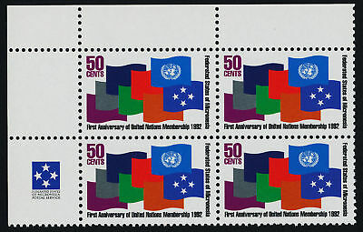 Micronesia 153 TL Block MNH Flags United Nations