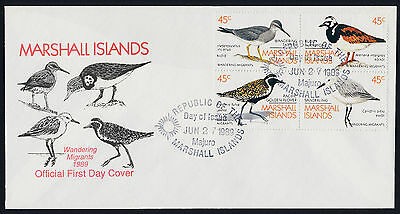Marshall Islands 225a on FDC - Migrant Birds