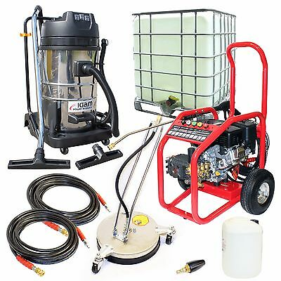 Petrol Jet Washer Business Pack Warrior 3000P  Block Paving Driveway Cleaning