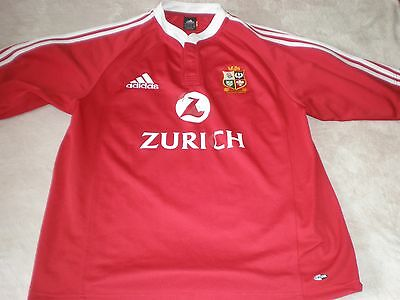 British & Irish Lions Rugby Union Shirt New Zealand 2005 Size L Large Adult  12