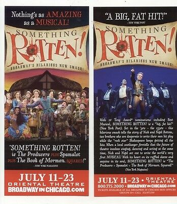 Something Rotten Broadway In Chicago 2017 Advertising Flyer