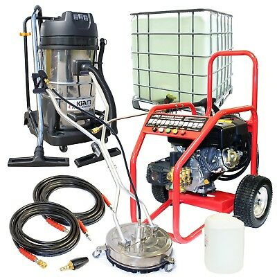 Petrol Jet Washer Business Pack Warrior 3400P  Block Paving Driveway Cleaning