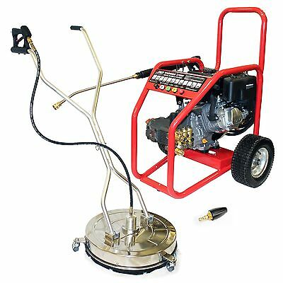 Petrol Pressure Washer Rotary Surface Warrior 3700P Driveway Kit Block Paving