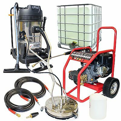 Petrol Jet Washer Block Paving Driveway Cleaning Business Pack Warrior 3700P