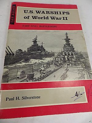 Vintage Paperback Book 'U.S. Warships of World War II' - Battleships-Silverston