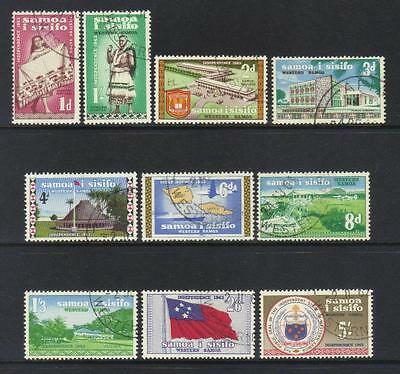 Samoa 1962 Independence Used Set Of 10