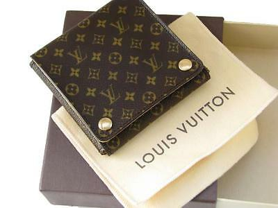 Authentic Louis Vuitton Mini Monogram Canvas Jewelry Case Wallet Pouch