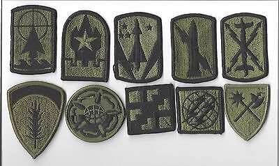 LOT OF 10 DIFFERENT U.S. MILITARY PATCHeS)M/P 3212)