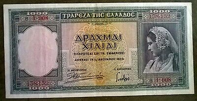 Griechenland 1000 Drachmai Bank of Greece 1.1.1939   P110