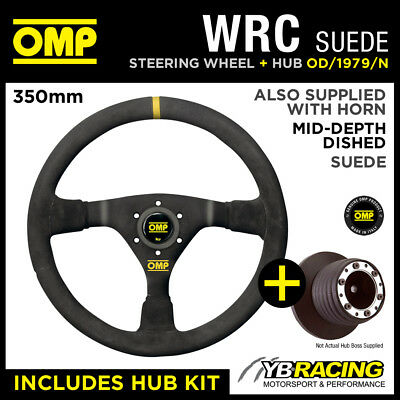 ROVER 200 SERIES 90- OMP WRC 350mm MID-DEPTH STEERING WHEEL & HUB KIT BOSS COMBO