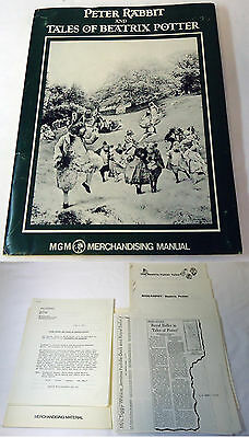 1971 MGM movie merchandising manual PETER RABBIT AND TALES OF BEATRIX POTTER